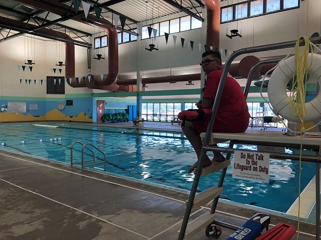 Lifeguard at county pool