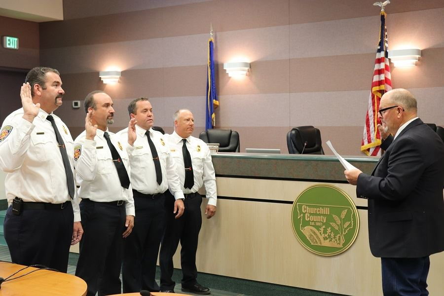 Fire officials sworn in