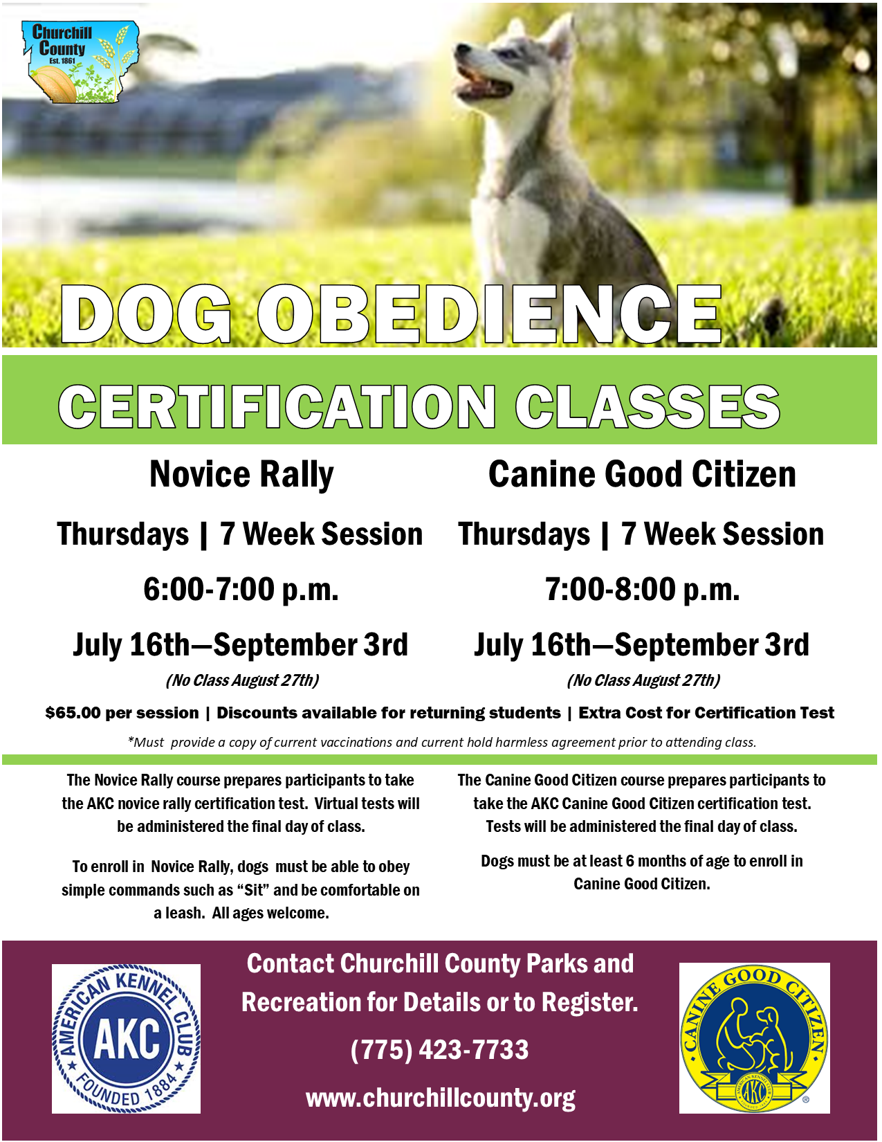 Dog Obedience (Rally - CGC) - Thora - July-September (2020)