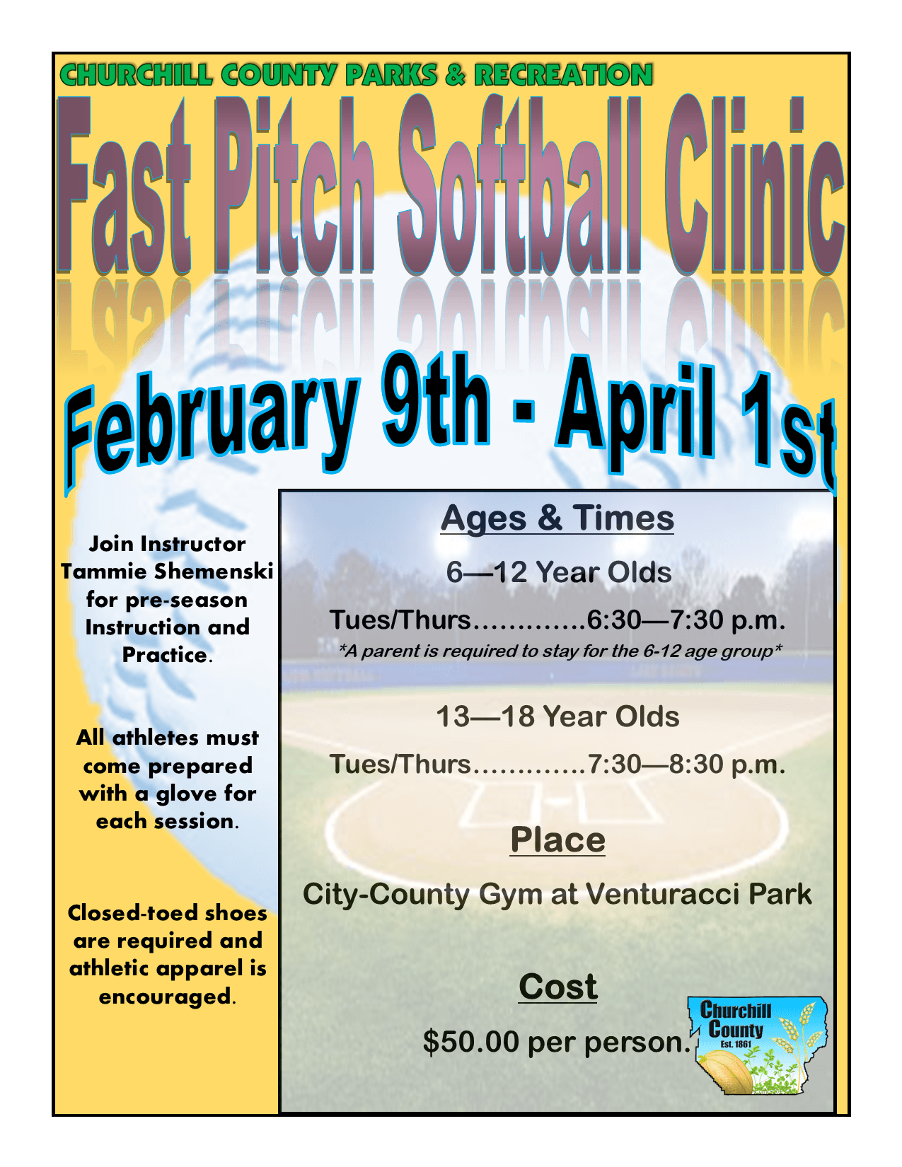 Fast Pitch Softball (2021) - Flyer
