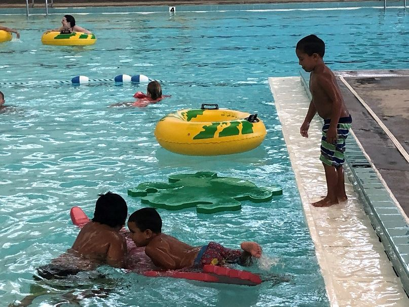 Kid fun at the county pool